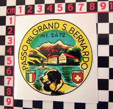 St Bernards Pass Holiday Sticker - Italian Job Film BMC Mini Cooper S