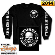 """2014 Sturgis Motorcycle Rally Long Sleeve """"Skull Circle SHIRT"""