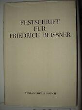 FESTSCHRIFT FRIEDRICH BEISSNER Beißner Hölderlin Kleist Kafka Napoleon Ibsen