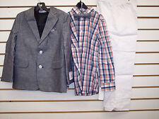 Toddler & Boys $89.50 Nautica 4-Pc. Heather Navy & White Suit Size 4T/4 - 7