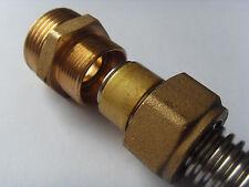 Metallisch dichtende schnell Verschraubung für Edelstahlwellrohr DN16