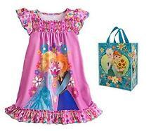 Disney Frozen Little Girls' Anna & Elsa Night Shirt & Tote - 2 Piece Gift Set