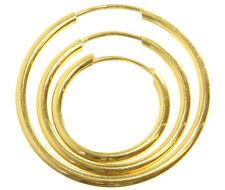 9 ct/karat Gelb Gold Damen - Paar Creolen - 12, 16, 20mm