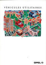 DEPLIANT DOCUMENTATION /  BROCHURE PUBLICITAIRE PUBLICITE. UTILITAIRES OPEL 1994