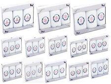 3 paquete de pañuelos blanco de algodón señoras Inicial letra monograma personalizado