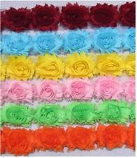 Flor de encaje de corte-deshilachados Gasa Rose-Shabby Chic Bridal Flores 1 yarda & más