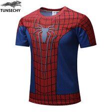 Spiderman Superman Transfomers Iron Man Design 3D Casual T-Shirt  - Adult XL