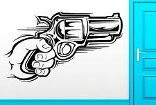 Wall Sticker Vinyl Decal Hand With Gun Gangster Weapon Cool Decor (z2498)