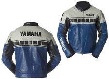 YAMAHA HOMMES MOTORBIKE VESTE EN CUIR MOTORRAD LEDER JACKE GIACCA IN PELLE MOTO