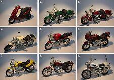 Maisto-Moto Guzzi-Indian-BMW-Yamaha-Harley Davidson-Suzuki-Malaguli-Scale 1:18