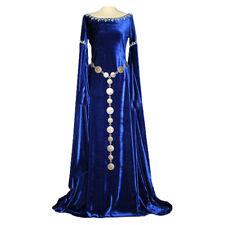 Women Medieval Costume Royalty Vintage Floor Length Fancy Halloween Queen Dress