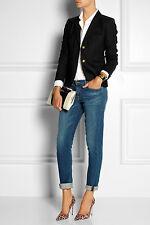 NWT £200 Designer J Crew Italian Wool Twill Jacket  BLACK  FRENCH NAVY UK 10-18