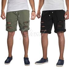Pantalone Bermuda Elastico Molla Tinta Unita Corto Rotture Laccetti Cavallo Bass