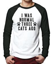 Ich war normal 3 Katzen vor-Crazy Cat Lady Eigentümer Männer Baseball Top