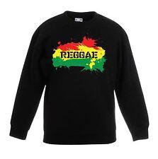 Reggae Splash Rasta Children's / Kids Unisex Sweatshirt Jumper - Bob Marley