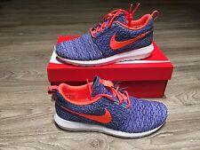 Nike Flyknit Rosherun Roshe Run Persian Violet Hot Lava White 677243-500 Unisex