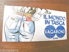 Adesivo VAGABOND JEANS IL MONDO IN TASCA sticker vintage adesivi stickers