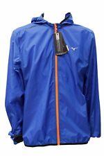 Giubbino Mizuno running lightweight hoody jacket nautical blue