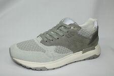Sneakers Lumberjack Detroit bianco e grigio in tessuto tecnico e camoscio