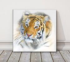 TIGER stampa su tela dipinto incorniciato Foto Wall Art Animali Varie Taglie