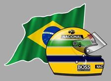 Ayrton SENNA right  BRAZIL/FLAG helmet Sticker droit