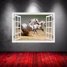 Full Colour Horses Running Window Wall Art Sticker Transfer Graphic Mural WSDW26