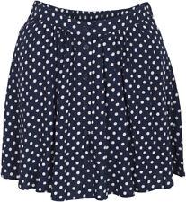 Cute Keren puntos polka dots retro swing skirt/Rock-azul oscuro rockabilly