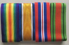 "Full Size British Military Medal Ribbons Various WW1 WW2 6"" lengths  *[MEDRIB]"