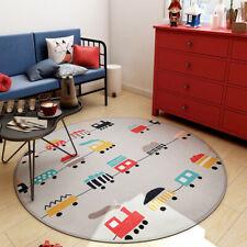 Alfombra Redonda Antideslizante Lavable a m/áquina para Sala de Estar Cuarto de ni/ños Color: MARR/ÓN, tama/ño: 2.6 pies Entrada al ba/ño Dormitorio Cocina