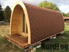 NordLog Luxury ISO Camping Pod 2,4 x 5,9m Haus Campinghaus Ferienhaus Gartenhaus