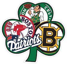 Boston Irish Sport Teams Fan Logo Mash Up Vinyl Sticker Decal