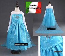 Frozen - Vestito Carnevale Elsa Dress up Elsa Costumes Cosplay 789007TU