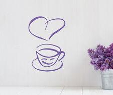 Wandaufkleber: Kaffeetasse - Tasse Kaffee Küche Esszimmer Coffee Deko WandTattoo