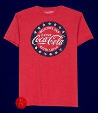 New Coke-Cola Mens Refreshing Heather Vintage Mens Retro T-Shirt