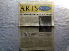 Arts spectacles,Faulkner,Rembrandt,Trnka Jiri,Triolet Journal ancien