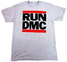 RUN DMC JMJ Retro T-shirt Rap Hip Hop Tee Gray Adult Sizes S-3XL New