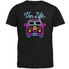 Retro Neon Sign Van Life Bus Mens Soft T Shirt