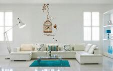 Talla De Mano Jaula De Pájaro Vid Dormitorio Pegatinas De Pared Calcomanía Decoración para el Reino Unido rui265 De Vinilo