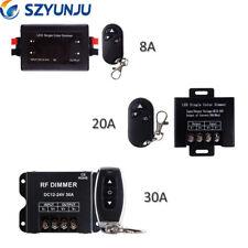1x 8A 20A 30A DC12-24V RGB Controller 3Key Led Dimmer RF Wireless Remote Control