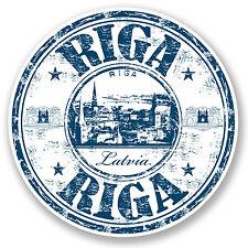 2 x 10cm Riga Latvia Vinyl Sticker iPad Laptop Car Travel Luggage Tag Gift #5225