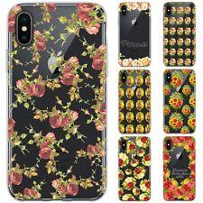 dessana Blumen Pattern Silikon Schutz Hülle Case Handy Tasche Cover für Apple