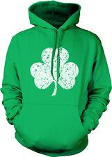 Shamrock Clover Irish Charm St Patricks Day Ireland Hoodie Pullover Sweatshirt