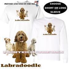 Labradoodle Labrador Poodle Mix Dog Breed Profile Graphic Art Custom T Shirt
