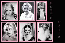 Movie Star Bette Davis photo collage poster 24x36 in.