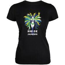 Rio De Janeiro Black Juniors Soft T-Shirt