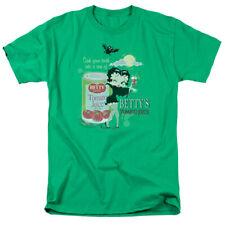 Betty Boop Vampire Tomato Juice Mens Short Sleeve Shirt Kelly Green