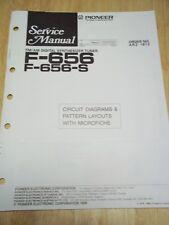 Pioneer Service Manual~F-656/S Tuner~Original~Repair~w/fiche