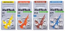 iCellTech Hörgerätebatterien Knopfzelle Hörgerät Batterie Typ 10, 13, 312, 675