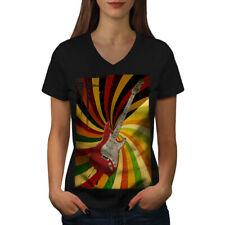 Bass Guitar Song Music Women V-Neck T-shirt NEW | Wellcoda