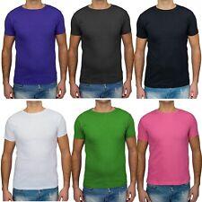 Hombres camiseta básica 100% algodón cuello redondo manga corta de la cáscara